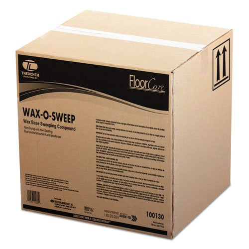 TOL Wax-Based Sweeping Compound, Grit-Free, 50lbs, Box