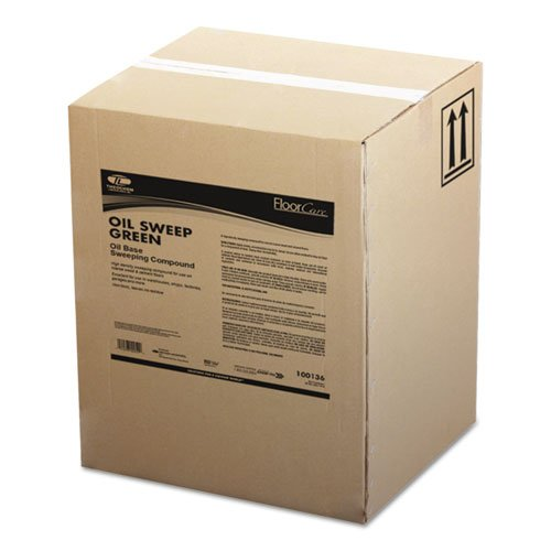 TOL Oil-Based Sweeping Compound, Grit-Free, 100lbs, Box